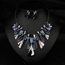 Chain Jewelry Bib Statement Pendant Necklace Crystal Choker Chunky Fashion Women