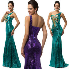 PLUS SIZE Sequins Mermaid Evening Party Formal Wedding Gown Long Prom Grad Dress