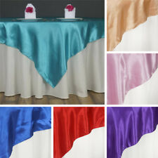 """20 SATIN SQUARE 60x60"""" Table OVERLAYS Wholesale Wedding Party Toppers Supplies"""