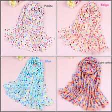 Fashion Women Girls Chiffon Dots Long Soft Neck Scarf Shawl Wrap Scarves W065