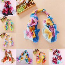 Fashion Girls Women Flowers Long Soft Wrap Lady Shawl Silk Chiffon Scarf New 066