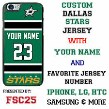 Custom DALLAS STARS Jersey w NAME Phone Case for iPhone 6 PLUS 6 5 5s 4  ipod 5