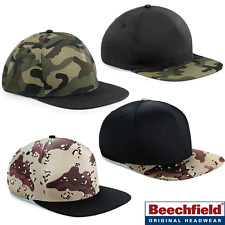 Beechfield CAMO SNAPBACK CAP HAT HIP HOP BASEBALL ADJUSTABLE MEN UNISEX NEW B69