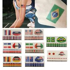 Country Flag Temporary Tattoos Water Transfer Lips Nail Stickers Party Favors