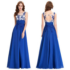 SHORT LONG Chiffon Dress Bridesmaid BEADED SEQUINS Ball Gown Evening Prom Party