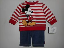 Boys Disney Baby Mickey Mouse Sweater Set Jeans & Shirt 2pc Various sizes NWT