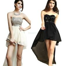 Women Dress Summer Paillette Chiffon Strapless Dress Evening Party Mini Dress