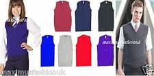 New Uniform V Neck Boys School Sleeveless Tank Top Jumper SweatShirt Size 3toXL