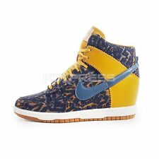 WMNS Nike Dunk Sky Hi PRM [585560-700] NSW Casual Leopard Gold/Dark Armory Blue