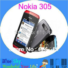"Nokia Asha 305 Dual SIM GSM 900/1800 3"" Touch Screen 2MP Bluetooth FM Original"