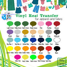 "THICKER THAN Siser Easyweed IRON-ON Heat Transfer Vinyl 15 pcs 20""x12"" MIX&MATCH"