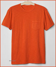 GAP Mens LIVED IN SOLID Crew Neck T Shirt ORANGE Brand New FREE FAST SHIPPING