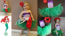 NEW Baby Girl Child Disney LITTLE MERMAID Princess ARIEL inspired Costume Outfit