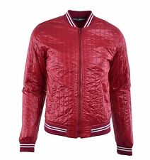 DOLCE & GABBANA Quilted Padded Nylon Jacket with Logo Red 04573