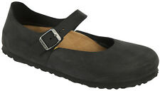 Birkenstock Oiled Leather MANTOVA $239.95rrp Black NARROW BNIB