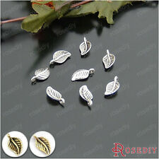 100PCS 15*8MM Alloy Tree Leaf Leaves Charms Pendants Jewelry Accessories 21198