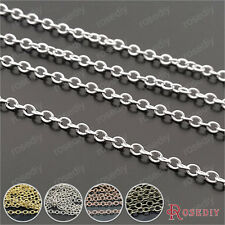 5 meters Chain width 2MM Copper Round Oval shape Chains Necklace Chains 29426