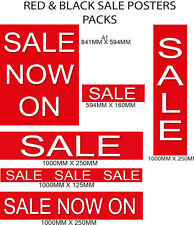New Red & Black Sale signs & posters  for shop windows and retail packs choices