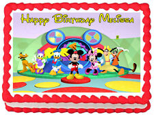 MICKEY MOUSE CLUB HOUSE Edible image Cake topper party decoration