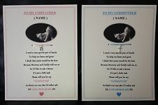 GODMOTHER,GODFATHER,GODPARENT CERTIFICATE KEEPSAKE GIFT CHRISTENING BAPTISM