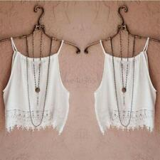 Summer Women's Ladies Lace Tops Short Sleeve Blouse Casual Tank Tops Tee T-Shirt