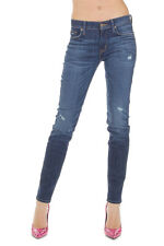 HUDSON Women Blue MIDRISE NICO Super Skinny Stretch Denim Jeans New