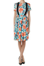 MARC BY MARC JACOBS Women New Cotton Short Sleeve Floral Flared Dress Braces