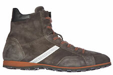 BIKKEMBERGS MEN'S SHOES HIGH TOP SUEDE TRAINERS SNEAKERS NEW RASCAL 686 GREY 289