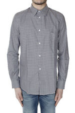 GOLDEN GOOSE Men Grey Checked Cotton Shirt Made in Italy New with Tag