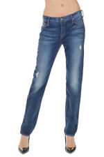 HUDSON Women Blue LEIGH BOYFRIEND Stretch Denim Jeans Made in USA New