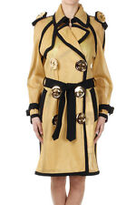 MOSCHINO COUTURE! Women Yellow Mesh Coat with Buttons Made in Italy