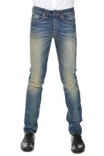 CYCLE Men Blue Stretch Denim Comfort Skinny Fit Jeans Made in Italy New