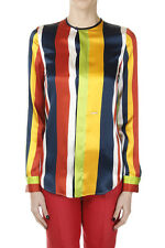 DSQUARED2 Dsquared² Women New Multicolor Silk Striped Blouse Shirt Made in Italy