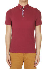 BRUNELLO CUCINELLI Men Red Short Sleeved Polo Shirt Italy Made