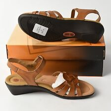 PLANET SHOES CASTLE WOMENS LEATHER COMFORTABLE WEDGE HEEL SANDALS