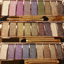 9 Colors Sexy Shimmer Eyeshadow Eye Shadow Palette & Makeup Cosmetic Brush Set