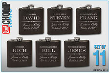 Groomsman Gifts Set of 11 Personalized Engraved Flask, Wedding Bridesmaid Party