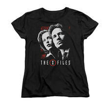 X FILES MULDER & SCULLY Licensed Women's Graphic Tee Shirt SM-2XL