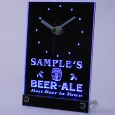 tncpn-tm Beer Ale Personalized Bar Best in Town Neon Led Table Clock