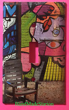 Street Art Wall Painting Chair Light Switch Power Outlet Cover Plate Home decor