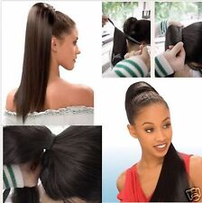 pony Long soft human hair ponytail remy human hair clip in hair extension 100g