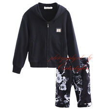 Boys Clothing Set Zipper Hooded Coat + Shorts Casual Outfits Jacket & Trousers