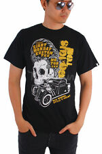 AU New Men Black T-shirt Basic Motorcycle Classic Car Race Rider Skull M-XXL