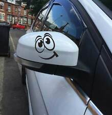 Funny Faces car mirrors vinyl stickers