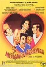 3 TRES MEXICANOS ARDIENTES DVD (1986) ALFONSO ZAYAS NEW SEALED 1 DISC EDITION