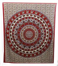 Indian Cotton 100% QUEEN full King Size Bed Sheet tapestry Animal Print