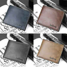 Mens Casual Leather Bifold Short Slim Wallet Credit Card Coin Holder Money Purse