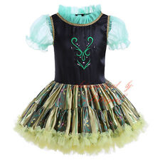 Toddler Girl Fancy Tutu Dress Dance Halloween Party Kids Princess Anna Costume