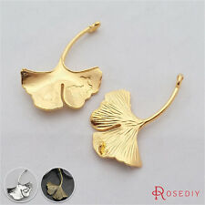 10PCS 42*32MM Zinc Alloy Leaves Pendants Jewelry Findings Accessories 29177