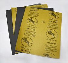 """9"""" x 11"""" 1000 Grit Sandpaper Wet Dry Abrasive Paper Silicon Carbide Waterproof"""